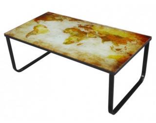 Konferenční stolek Cruz, motiv žlutá mapa