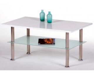 Konferenční stolek Flip 3, bílý lesk
