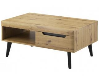 Konferenční stolek se zásuvkami Nordi, dub artisan