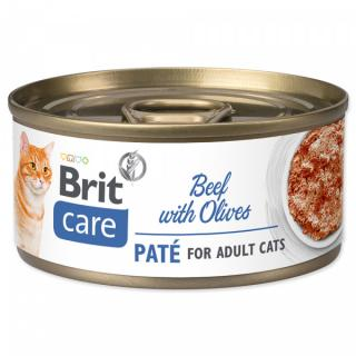 Konzerva brit care cat beef paté with olives 70g