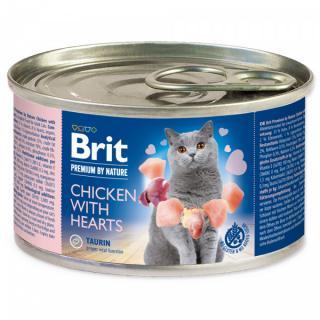 Konzerva brit premium by nature chicken with hearts 200g