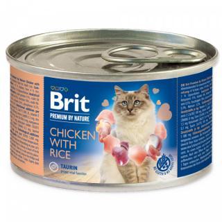Konzerva brit premium by nature chicken with rice 200g