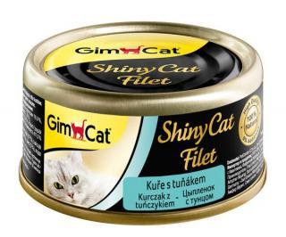 Konzerva ShinyCat filet kuře s tuňákem 70g