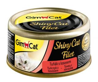 Konzerva ShinyCat filet tuňák s lososem 70g