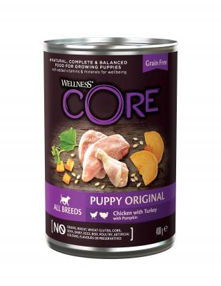 Konzerva Wellness CORE Dog Stene kuře, Krocan a Dýně 400g
