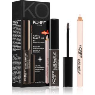 Korff Cure Makeup set na obočí odstín 01 Dark brown dámské