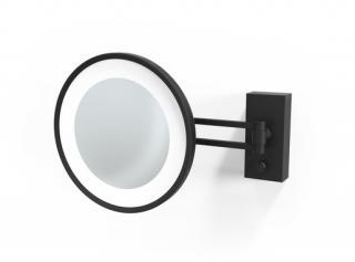 Kosmetické zrcátko LED, 3x Decor Walther, černá matná 0122160