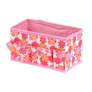 Kosmetický organizér s květy Barva: růžová