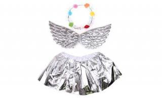 Kostým anděl stříbrný