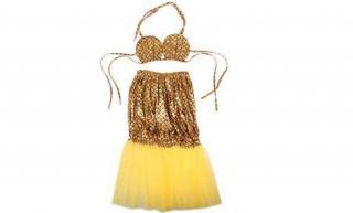 Kostým mořská panna zlatý