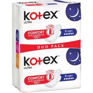 Kotex Ultra Comfort Night vložky 12 ks dámské 12 ks