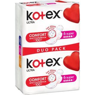 Kotex Ultra Comfort Super vložky 12 ks dámské 12 ks