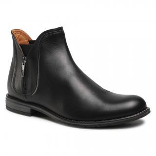Kotníková obuv s elastickým prvkem GINO ROSSI - Aldo MBU352-541-0722-9900-0 99 1 pánské Černá 40