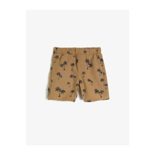 Koton Baby Boy Brown Printed Normal Waist Shorts pánské Other 9-12 AY