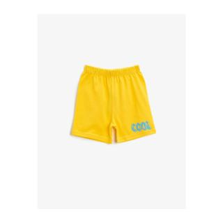 Koton Baby Boy Yellow Text Printed Cotton Shorts pánské Other 9-12 AY