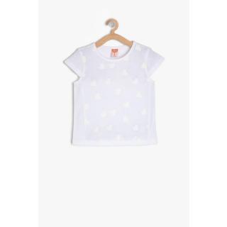 Koton Baby Girl Ecru Printed T-Shirt dámské Other 9-12 AY
