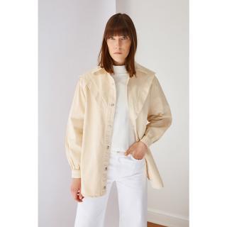 Koton Beige Denim Jacket dámské 42
