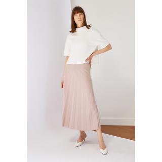 Koton Beige Pleated Knit Skirt dámské S