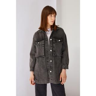 Koton Black Pocket Detailed Denim Jacket dámské 40