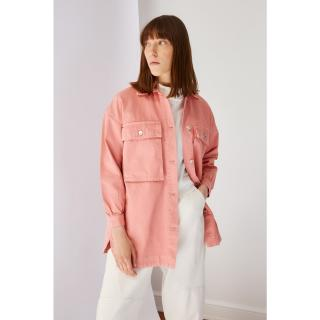 Koton Dried Rose Pocket Detailed Denim Jacket dámské 38