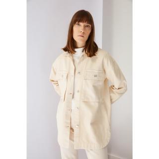 Koton Ecru Pocket Detailed Denim Jacket dámské 36