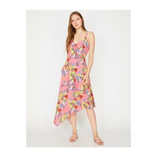 Koton Floral Dress dámské Pink 34