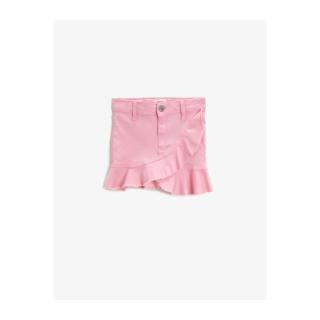 Koton Girl Pink Denim Frilly Skirt - dámské Other 11-12 years