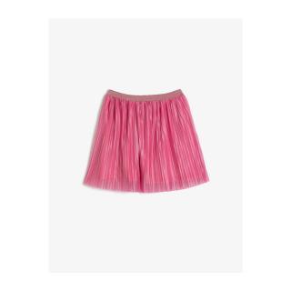 Koton Girl Pink Waistline Glittery Elastic Pleated Medium Length Wide Skirt dámské Other 11-12 years