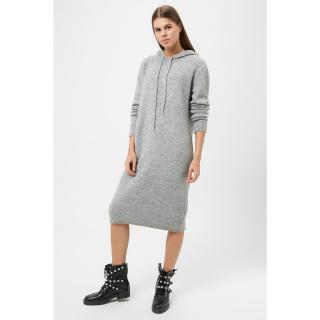 Koton Hooded Knitwear Dress dámské GRAY S
