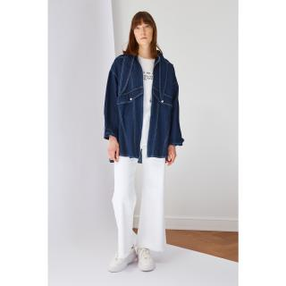 Koton Indigo Collar Detailed Denim Jacket dámské L