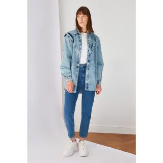 Koton Indigo Shoulder Detailed Denim Jacket dámské 36
