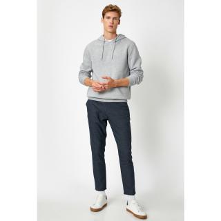 Koton Men Navy Checked Jeans pánské DARK BLUE PLAIN 50