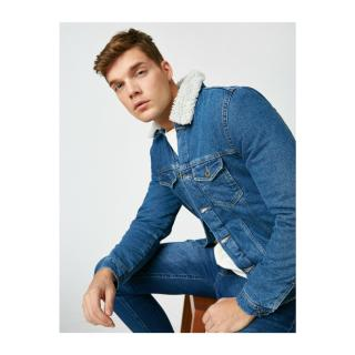 Koton Mens Blue Jackets pánské S