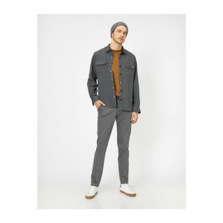 Koton Mens Gray Pocket Detailed Trousers pánské 38