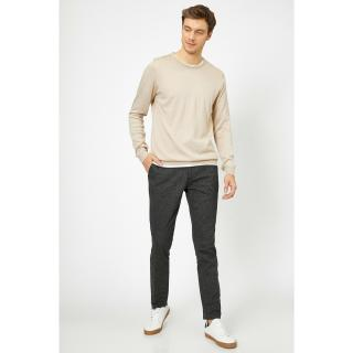 Koton Mens Gray Trousers pánské 40