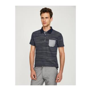 Koton Mens Navy Polo Neck T-Shirt pánské Navy Blue M