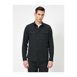 Koton Mens Shirt pánské Gray M