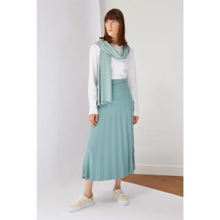 Koton Mint Pleated Knit Skirt dámské S
