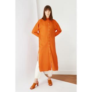 Koton Orange Shirt Collar Tunic Dress dámské 36