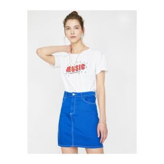 Koton Pocket Detail Skirt dámské Blue 34