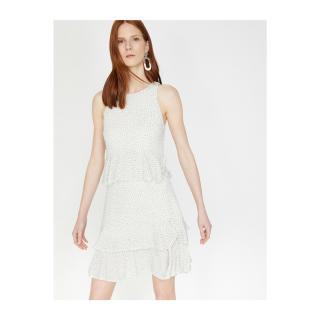 Koton Polka Dot Evening Dress dámské White M