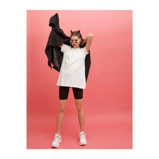 Koton Short Sleeve T-Shirt Crew Neck Cotton dámské Ecru L