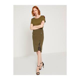 Koton Skirt For Arzu Sabanci dámské Green 36
