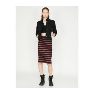 Koton Striped Skirt dámské Black L