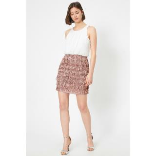 Koton Tasseled Dress Evening Dress Siphon Gathered Detail Sleeveless Mini dámské Ecru 38