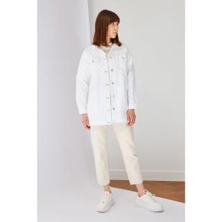 Koton White Denim Jacket dámské 36