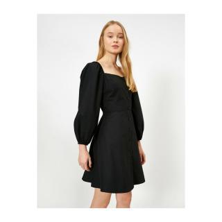 Koton Women Black Button Detailed Dress dámské Black 999 34