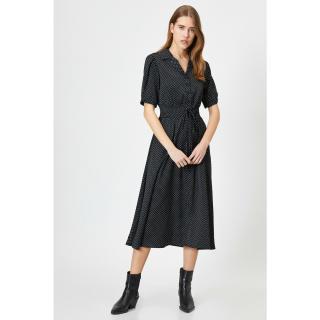 Koton Women Black Button Detailed Dress dámské Other 36