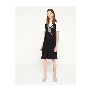 Koton Women Black Embroidered Dress dámské Black 999 34