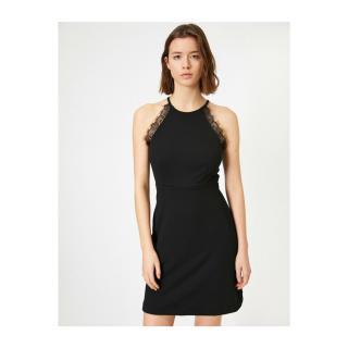 Koton Women Black Lace Detailed Dress dámské Other XS